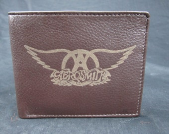 Aerosmith leather bi fold wallet- hand made premium leather