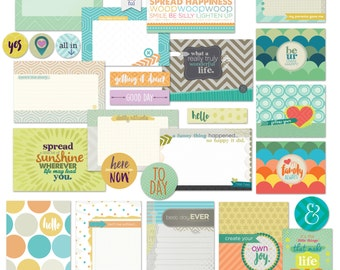 Scrapbook Cards/ Digital Printable / Project Life Cards / Journaling / Lists