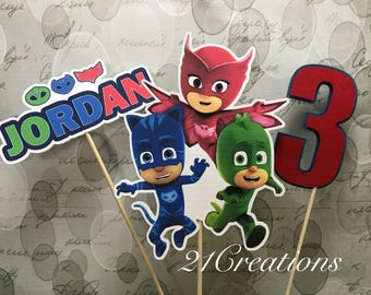 PJ Masks Centerpiece Inserts or Cake Topper