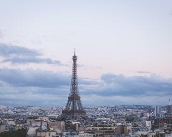 Eiffel Tower Paris Champs Eylsees at Sunset, Living Room Art, Photography French Art Parisian Living Room Europe Matte Teri B Photography