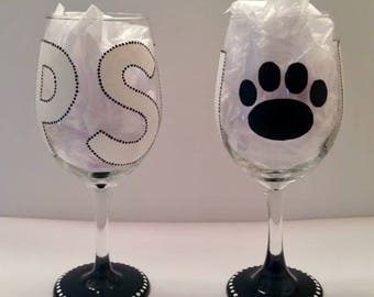 Penn State University (PSU) Wine Glass