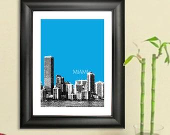 Miami Skyline Poster - Miami Skyline Art Print
