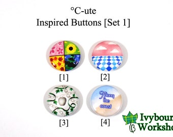 J-Pop / Hello! Project / C-ute Inspired 1-Inch Pinback Buttons [Set 1]