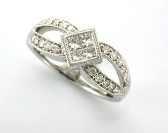 CHLOE - Vintage Style Diamond Engagement Ring