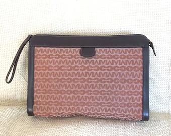 Vintage  genuine brown Marck Cross signature  long clutch organizer