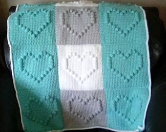 Heart blanket crochet