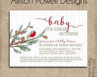 Baby It's Cold Outside Baby shower or sprinkle - Winter Baby Shower - Print Your Own or Printed - Girl or Boy