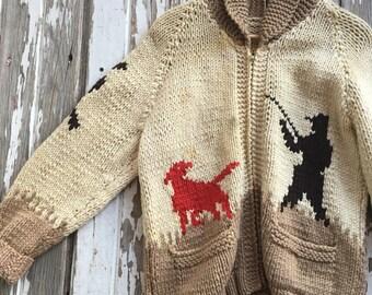 Vintage 50/60s Cowichan Knit Sweater