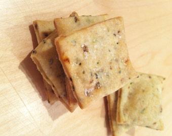 Organic Tuscan Herb and Sea Salt Homemade Rustic Crackers - 5oz
