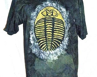 Batik T-shirt with Trilobite Design