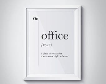 Office Definition Print, Office Printables, Boss Gift, Funny Wall Art,  Office Decor