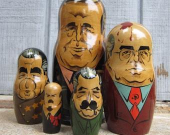 George H Bush Russian Matryoshka Doll Set