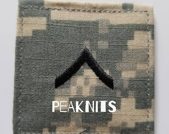 US Army ACU Military Private (PV2 E-2) Rank Patch