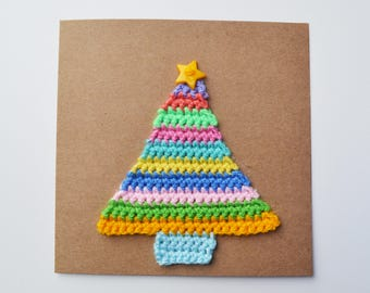 Crochet Christmas Tree Card