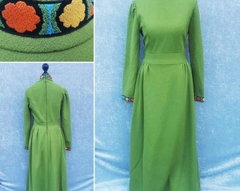 Vintage Maxi Dress late 1960's early 1970's - perfect condition
