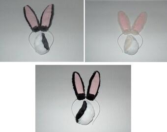 Handmade Rabbit Ears and Tail Set