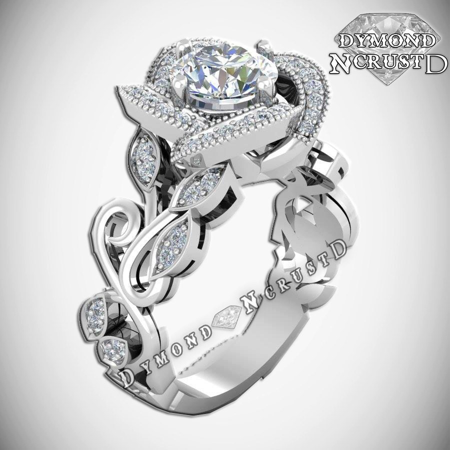 Princess Belle Inspired Rose Flower Swarovski Sterling Silver