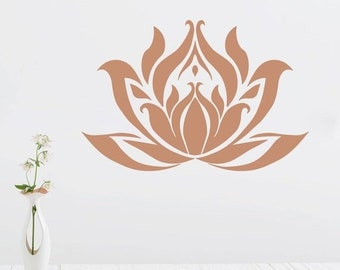 ON SALE Lotus Stencil for Painting a Lotus Blossom