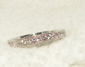 10kt White Gold Wedding/Anniversary Band