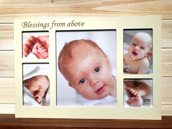 Baby Collage Frame Laser Engraved Personalized Custom Photo Frame ...