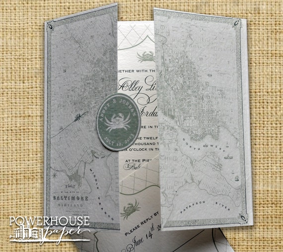Baltimore vintage map wedding invitation diy we like this item solutioingenieria Gallery