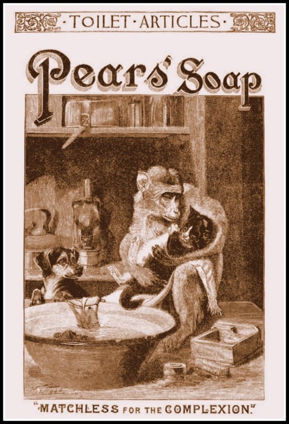 Bathroom Art: Pears Soap Advert Poster Print 1888 8 x 10