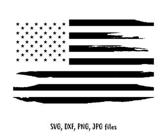 Distressed US flag SVG, Independence day svg, Flag Cut File, Vintage flag design, 4th of July svg ,Grunge flag Cricut & Silhouette Cut file