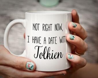 JRR Tolkien mug literary mug for bookworm/book lover - Tolkien gift reader gift Lord of the Rings Mug Hobbit Mug Lord of the Rings Gift