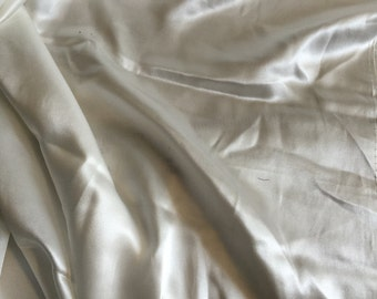 """Silk Charmeuse with Stretch, Light Ivory, a very high quality, Price is per Yard, 45"""" wide"""