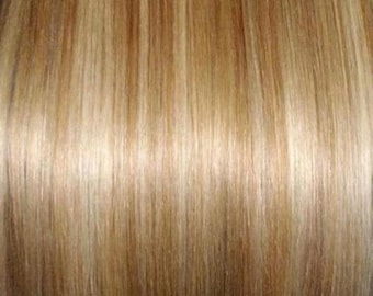 100% Human Hair Flip-in(HALO) extension Hand-made Natural Golden Blonde Mix