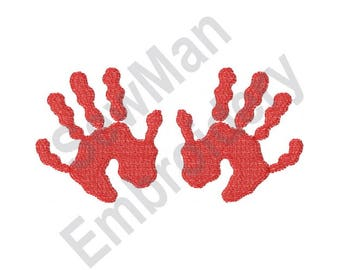 Hand Prints - Machine Embroidery Design