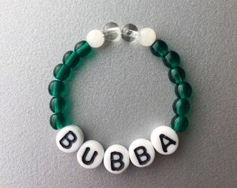 BUBBA- Moonstone, Natural Quartz, Teal Glass Beads -Gemstone Bracelet - Sized for 0-1 years old