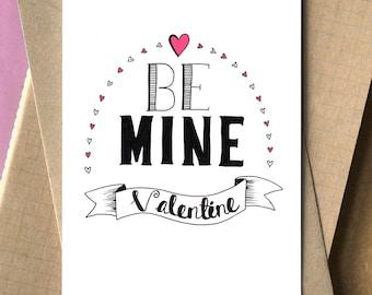Valentine card -hand drawn