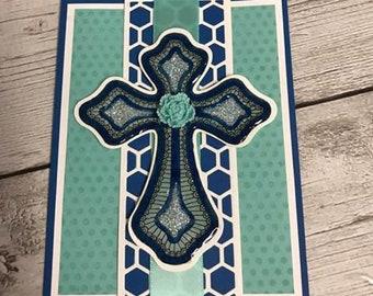 Handmade Card Beautiful Cross
