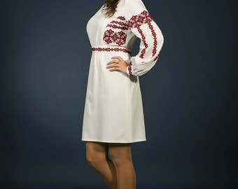 Vyshyvanka Ukrainian dress, Stylish embroidered dress. Ukrainian wedding dress, Holiday dress ukrainian embroidery clothing. Dress ukraine