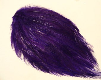 Rooster Hackle Feather Pad for hair accessories or other projects - REGAL