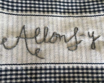 Doctor Who Inspired Hand Embroidered Kitchen Towel Allons-y