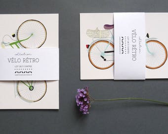 set of 6 bicycle choice