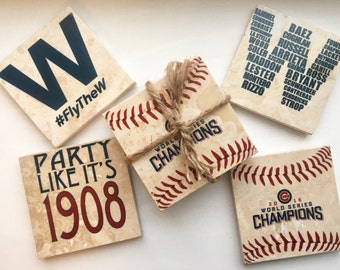 Chicago Cubs World Series Coaster Sets