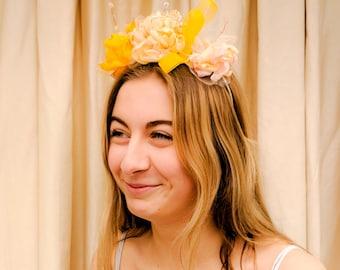 Romantic Golden Rose headdress