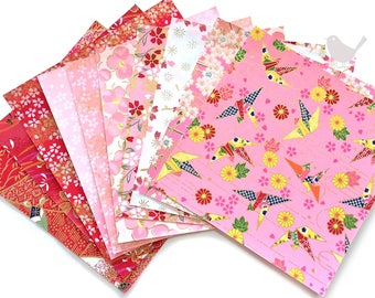 Scrap Pack - Japanese rice and origami paper ephemera, paper with beautiful golden print 7