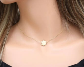 Gold Star of David Necklace • Delicate Star Of David Necklace • Judaical Jewelry • David Star Necklace  •  Jewish Jewelry •  Gift For Her