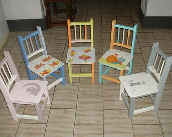 SMALL child chair or Reborn - deco craft