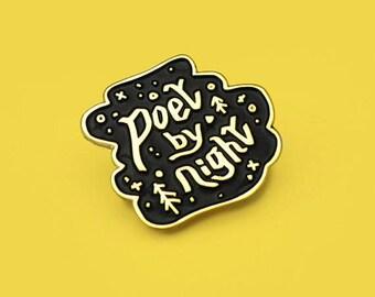 Poet by Night enamel pin