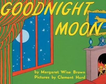 "Vintage Book Cover Print ""Goodnight Moon"" - Children's Book - Nursery Decor - Classic Childrens Literature - Kids Room Art Print"