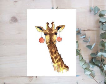 Poster - GIRAFFE - animals series - Limited Edition
