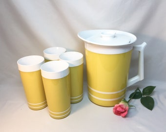 Thermal Pitcher and Tumblers Bright Yellow by Morgan