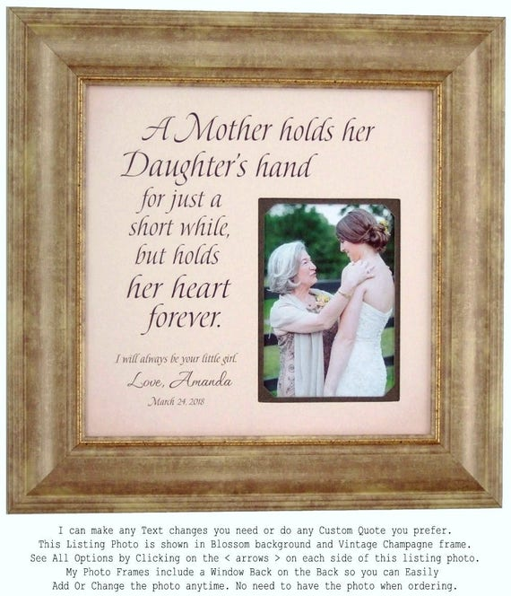 Personalized Wedding Gift for Mom from Daughter, Mother of the Bride ...