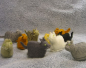 Kittens Sewn Wool Felt- ship for FREE in the US