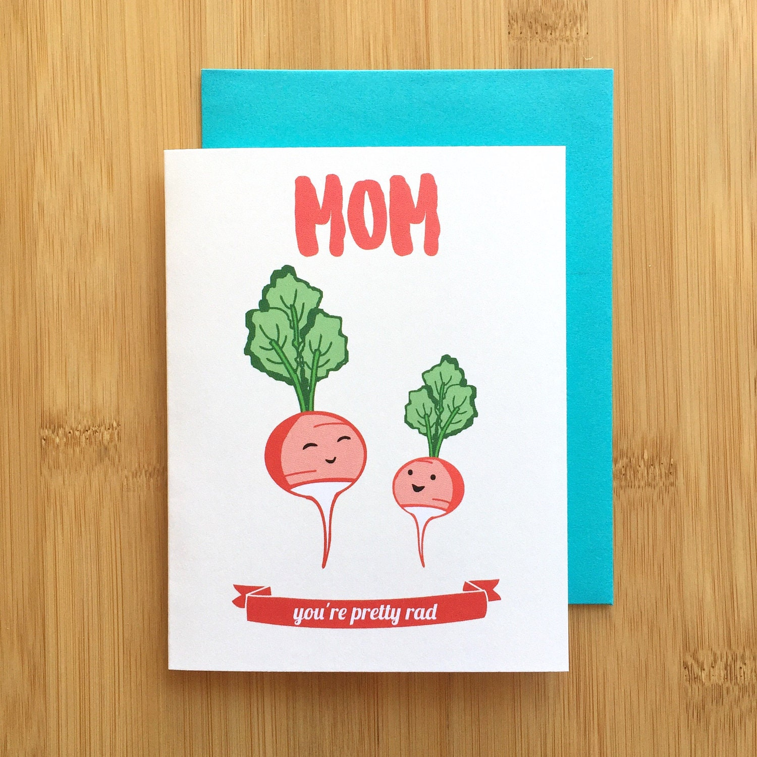 Radish mom card mothers day card mom birthday card gift for mom mothers day bookmarktalkfo Image collections